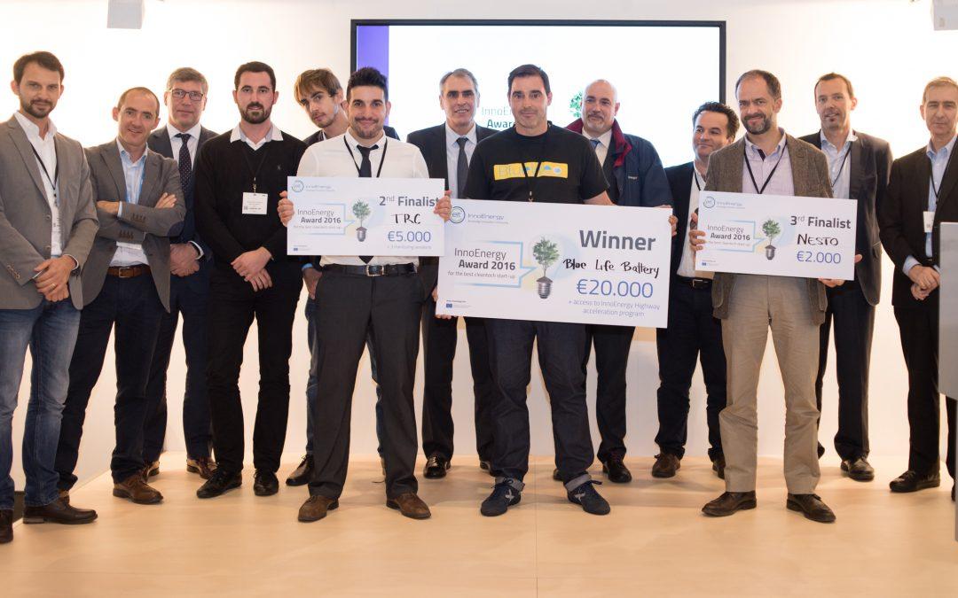 TRC ha ganado el segundo premio en InnoEnergy Award.