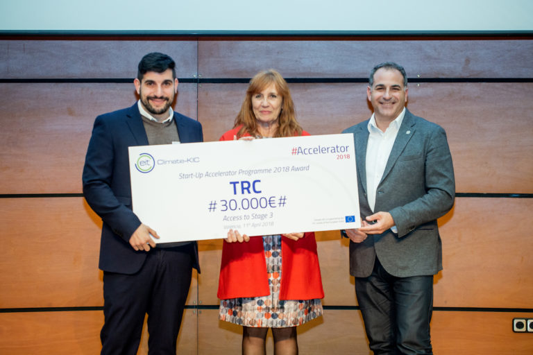 TRC win EIT Climate-KIC Accelerator 2018